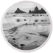 Seal Rock 0169 Round Beach Towel