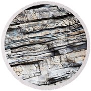 Abstract Rock Stone Texture Round Beach Towel