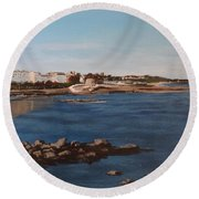 Seapoint From Salthill Round Beach Towel