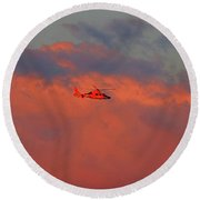 Search And Rescue Round Beach Towel
