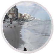 Searching For Gold Round Beach Towel