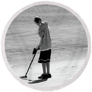 Searching For Patience Round Beach Towel