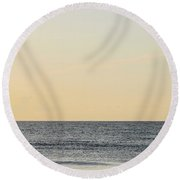 Searching For Waves Round Beach Towel