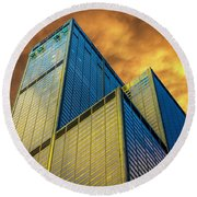 Sears Tower By Skidmore, Owings And Merrill Dsc4411 Round Beach Towel
