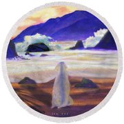 Sea Dog Round Beach Towel