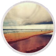Seascape 17 Round Beach Towel