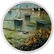 Seascape 78 Round Beach Towel