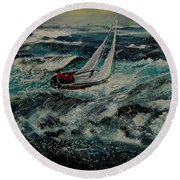 Seascape 97 Round Beach Towel