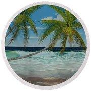 Seascape Series No.1 Round Beach Towel