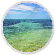 Seascape - The Colors Of Key West Round Beach Towel