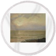 Seascape View Round Beach Towel