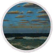 Seascape With Tearns Round Beach Towel