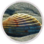 Seashell After The Wave Round Beach Towel