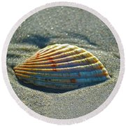 Seashell After The Wave Square Round Beach Towel