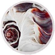 Seashell Detail Round Beach Towel