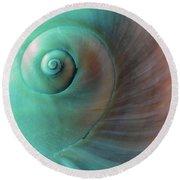 Seashell Spiral Design Round Beach Towel