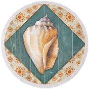 Seashells-jp3620 Round Beach Towel