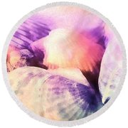 Seashells Painted  Round Beach Towel