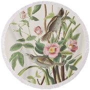 Seaside Finch Round Beach Towel