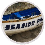 Seaside Park New Jersey Round Beach Towel