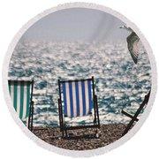 Seaside Round Beach Towel