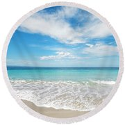 Seaside Serenity Round Beach Towel