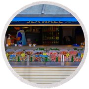 Seaside Shellfish Snack Shack Round Beach Towel