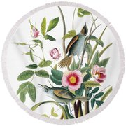 Seaside Sparrow, 1858 Round Beach Towel