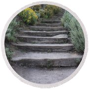 Seaside Steps Round Beach Towel