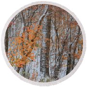 Seasons Overlapping Round Beach Towel
