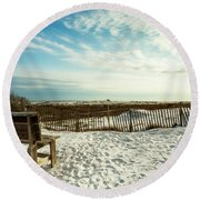 Seating Available Round Beach Towel