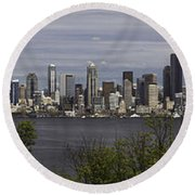 Seattle At Its Best Round Beach Towel