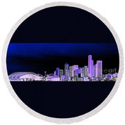 Seattle Blue 2 Round Beach Towel