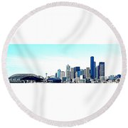 Seattle Blue Round Beach Towel