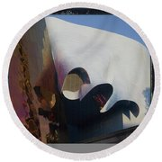 Seattle Center Experience Music Project Round Beach Towel