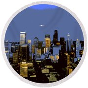 Seattle City Round Beach Towel