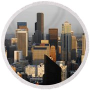 Seattle Round Beach Towel