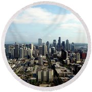 Seattle From Above Round Beach Towel