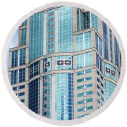 Seattle High Rise Round Beach Towel
