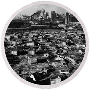 Seattle: Hooverville, 1933 Round Beach Towel