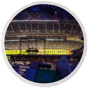 Seattle Mariners Safeco Field Night Game Round Beach Towel