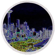 Seattle Quintessence Round Beach Towel