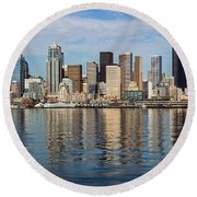 Seattle Reflection Round Beach Towel