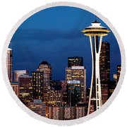 Seattle Skyline Round Beach Towel