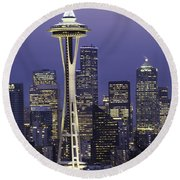 Seattle Space Needle 0200 Round Beach Towel