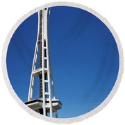 Seattle Space Needle Round Beach Towel