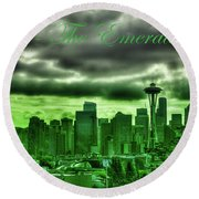 Seattle Washington - The Emerald City Round Beach Towel