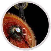 Seattlelights Round Beach Towel