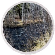 Secluded Brook Round Beach Towel