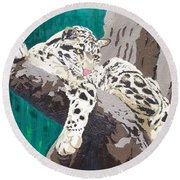 Secluded Grace Round Beach Towel